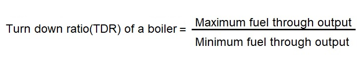 trn down ratio of a boilermarine progress